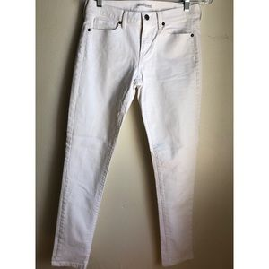 Banana Republic white denim jeans